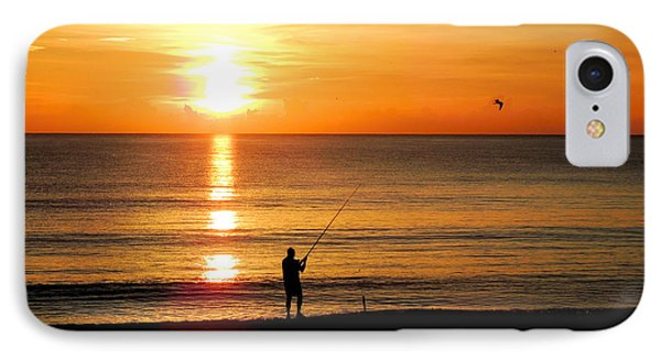Fishing At Sunrise IPhone Case
