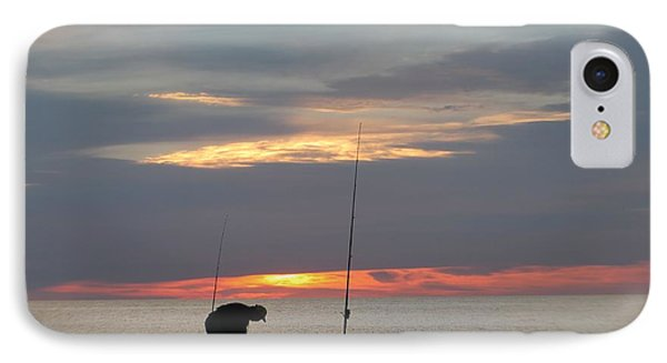 IPhone Case featuring the photograph Fishing At Sunrise by Robert Banach