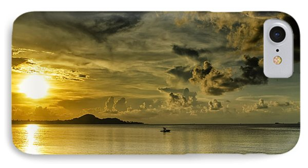 Fishing Before Dark IPhone Case by Michelle Meenawong