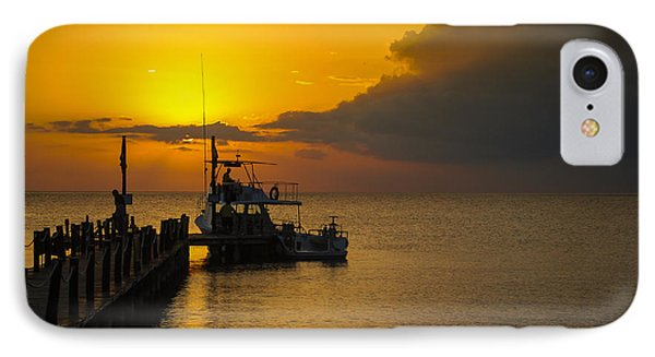 Fishing Boat At Sunset IPhone Case