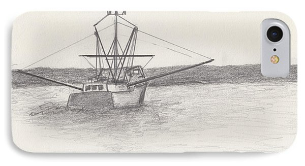 Fishing Boat IPhone Case by David Jackson