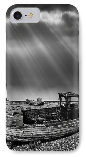 Fishing Boat Graveyard 11 Phone Case by Meirion Matthias