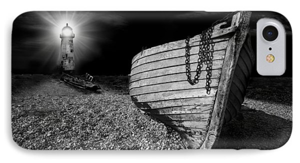 Fishing Boat Graveyard 5 Phone Case by Meirion Matthias