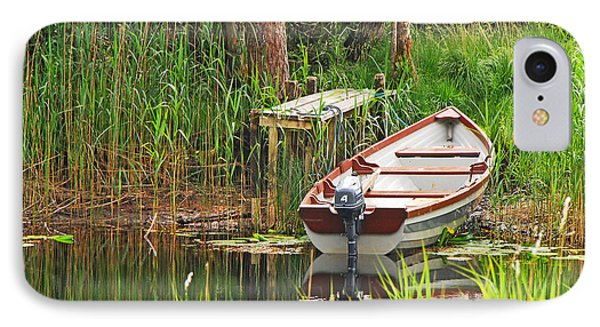 Fishing Boat IPhone Case by Mary Carol Story