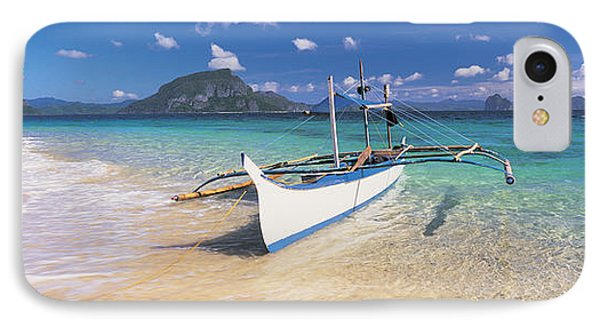 Fishing Boat Moored On The Beach IPhone Case by Panoramic Images