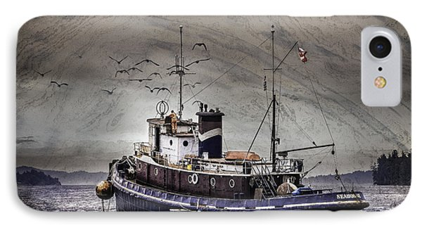 IPhone Case featuring the mixed media Fishing Boat by Peter v Quenter