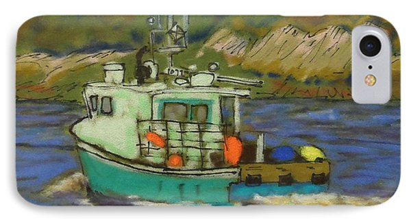 Fishing Boat IPhone Case by Rae  Smith