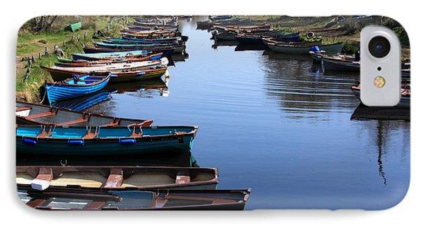 Fishing Boat Row Phone Case by Aidan Moran