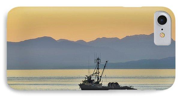 Fishing Boat Seen At Sunset IPhone Case by Matt Freedman