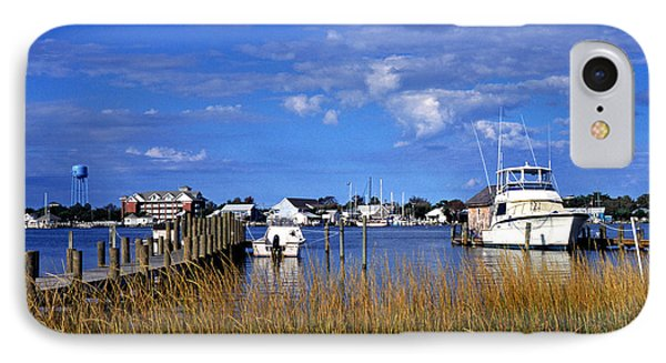 Fishing Boats At Dock Ocracoke Island Phone Case by Thomas R Fletcher