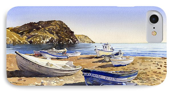 Fishing Boats At Las Negras Phone Case by Margaret Merry