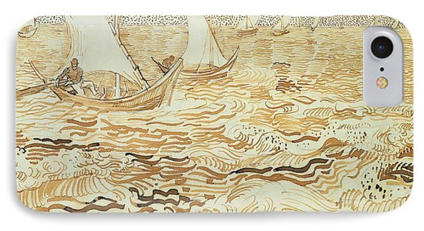 Fishing Boats At Saintes Maries De La Mer Phone Case by Vincent van Gogh
