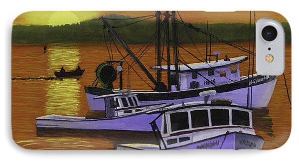 Fishing Boats At Sunset IPhone Case