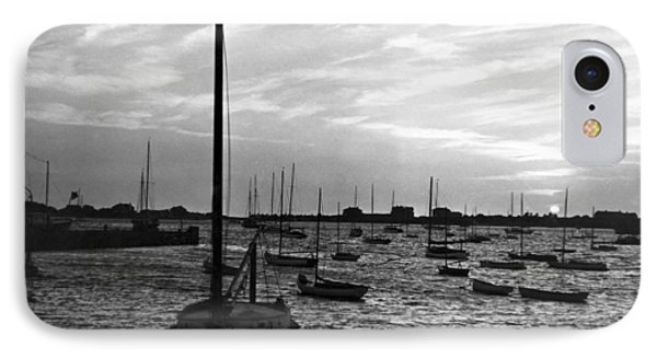 Fishing Boats At Sunset IPhone Case by Underwood Archives