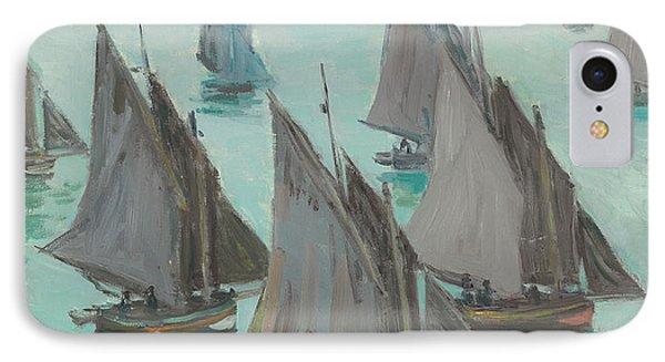 Fishing Boats Calm Sea IPhone Case
