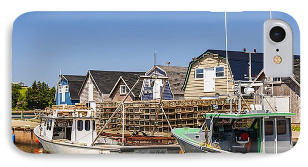 Fishing Boats Docked In Prince Edward Island  IPhone Case by Elena Elisseeva