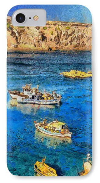 Fishing Boats Phone Case by George Rossidis