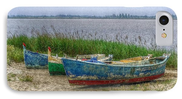 IPhone Case featuring the photograph Fishing Boats by Hanny Heim