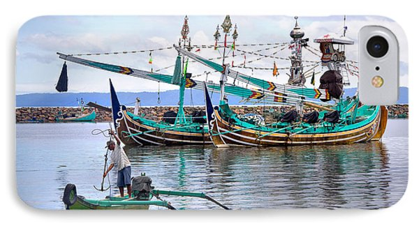 Fishing Boats In Bali Phone Case by Louise Heusinkveld
