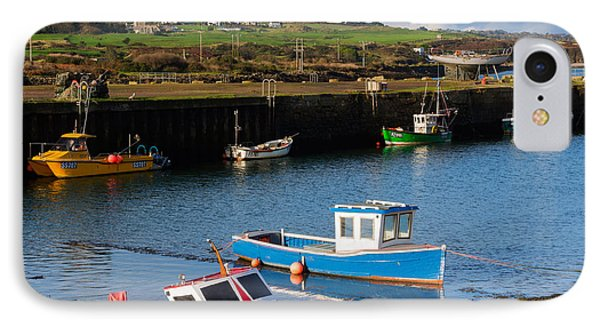 Fishing Boats In The Harbour At Hayle Phone Case by Louise Heusinkveld