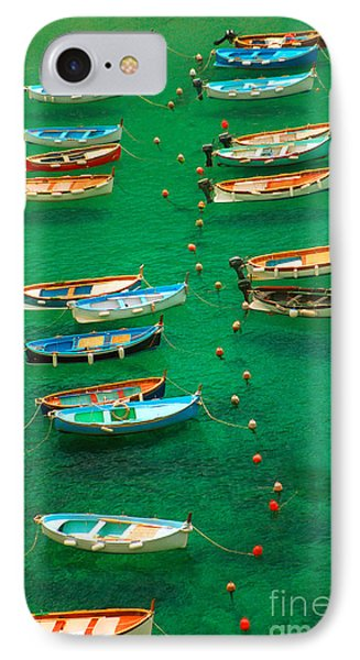 Fishing Boats In Vernazza IPhone Case