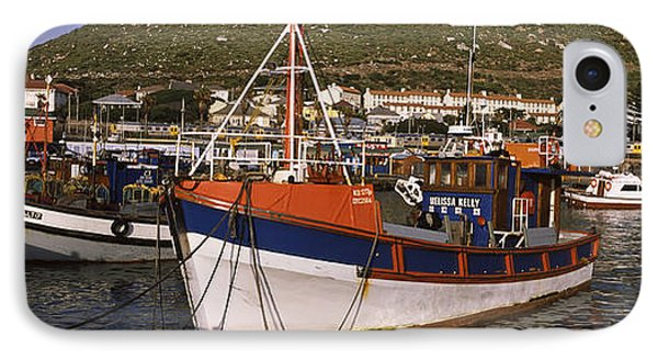 Fishing Boats Moored At A Harbor, Kalk IPhone Case by Panoramic Images
