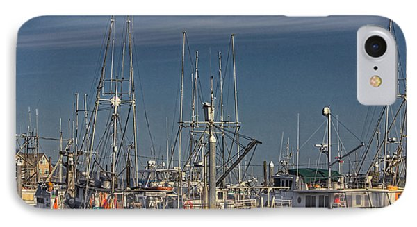 Fishing Boats With Eagle IPhone Case by Timothy Latta