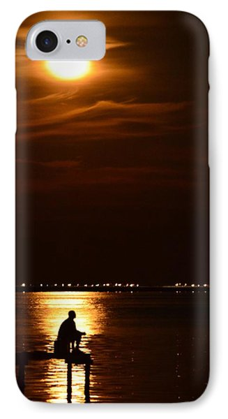 Fishing By Moonlight01 IPhone Case by Jeff at JSJ Photography