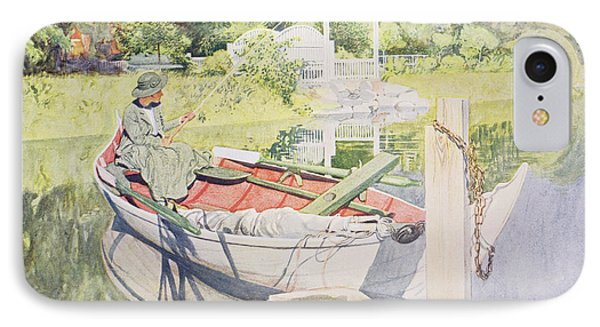 Fishing IPhone Case by Carl Larsson