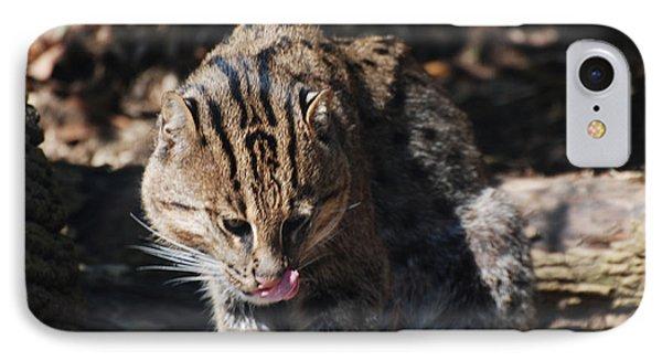 Fishing Cat IPhone Case by DejaVu Designs