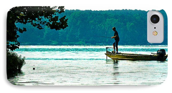 Fishing Crab Orchard Lake IPhone Case by Jeff Kurtz