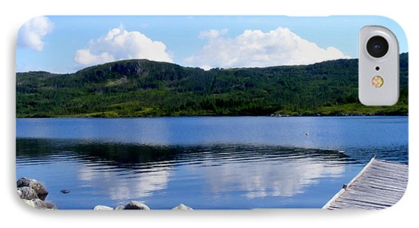 Fishing Day - Calm Waters - Digital Painting Phone Case by Barbara Griffin