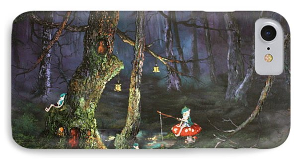 Fishing For Supper On Cannock Chase IPhone Case by Jean Walker