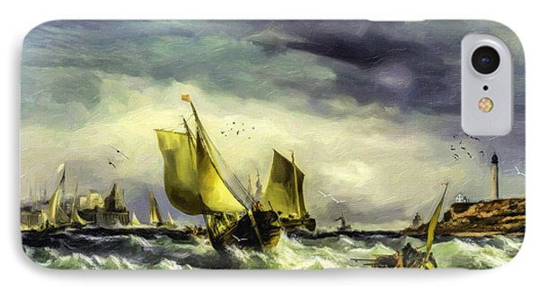 Fishing In High Water IPhone Case by Lianne Schneider