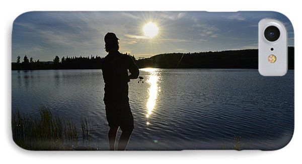 Fishing In The Sunset Phone Case by Per Kristiansen