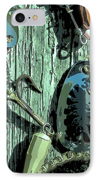 Fishing Lure In Close-up IPhone Case by Tommytechno Sweden