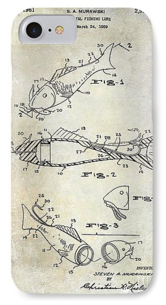 Fishing Lure Patent 1959 IPhone Case