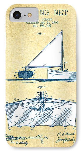 Fishing Net Patent From 1905- Vintage Paper IPhone Case by Aged Pixel