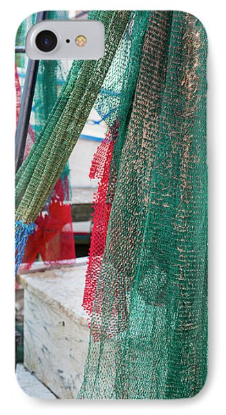 Fishing Nets On A Shrimp Boat IPhone Case by Jim West