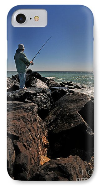 Fishing Off The Jetty Phone Case by Paul Ward