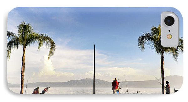 IPhone Case featuring the photograph Fishing On Lake Chapala by David Perry Lawrence