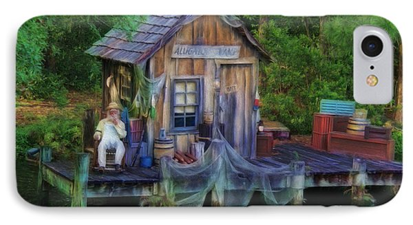 Fishing On The Bayou Phone Case by Lee Dos Santos