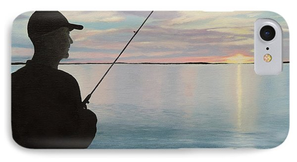 IPhone Case featuring the painting Fishing On The Flats by Jimmie Bartlett