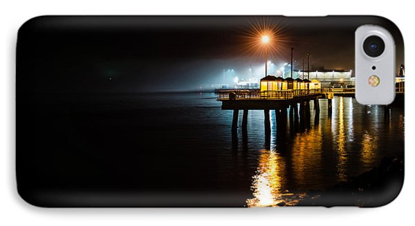 Fishing Pier At Night Phone Case by Brian Xavier