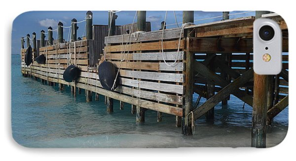 Fishing Pier IPhone Case by Judy Wolinsky