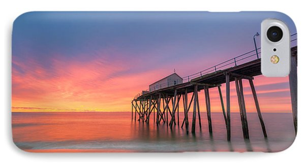 Fishing Pier Sunrise IPhone Case by Michael Ver Sprill