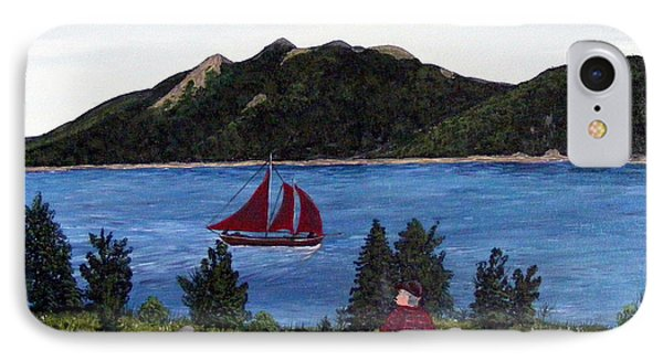 IPhone Case featuring the painting Fishing Schooner by Barbara Griffin