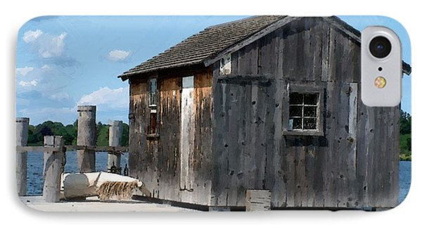Fishing Shack On The Mystic River Phone Case by RC DeWinter