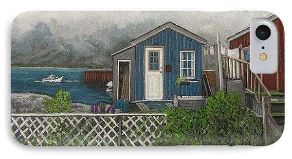 Fishing Shacks Alaska Phone Case by Reb Frost