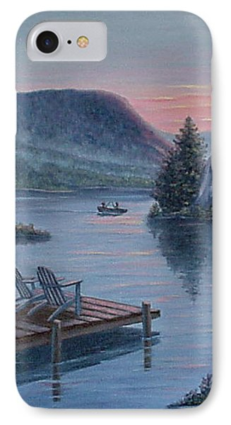 IPhone Case featuring the painting Fishing Spot For Two by Fran Brooks